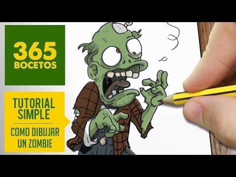 Como dibujar un zombie