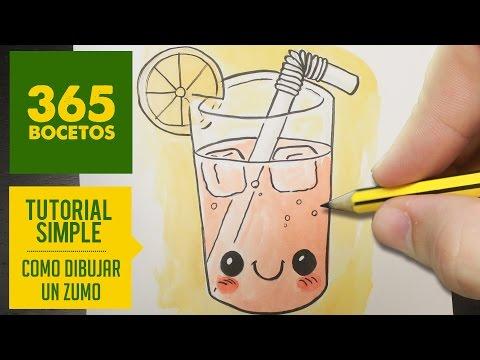 Como dibujar un zumo de fruta veraniego