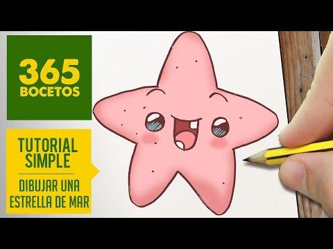 Como dibujar una adorable estrella de mar