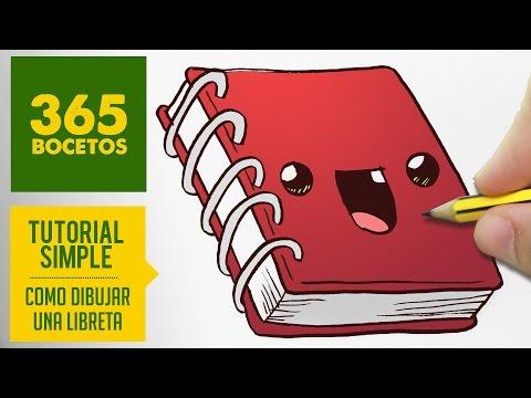Como dibujar una adorable libreta