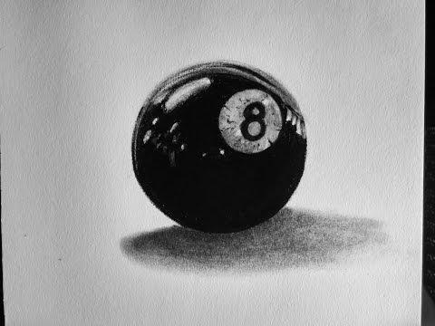 Como dibujar una Bola de billar
