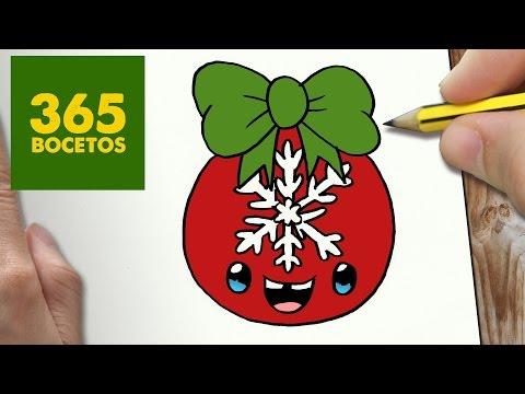 Como dibujar una Bola de Navidad