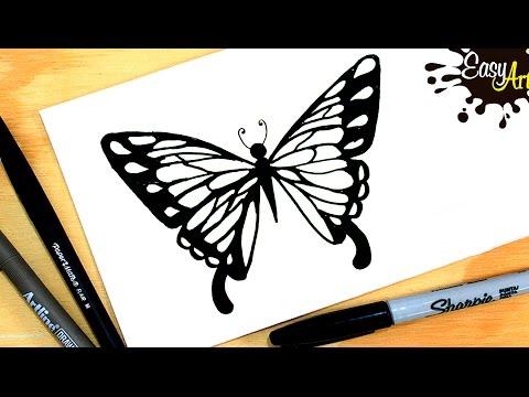 Como dibujar una bonita Mariposa