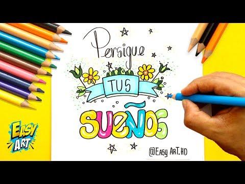 Como dibujar una bonita tarjeta motivadora