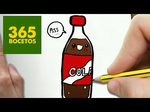 Como dibujar una Botella de Cola