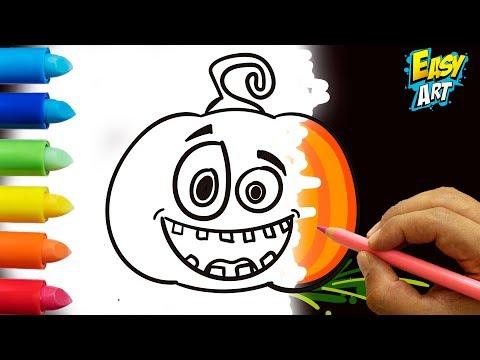 Como dibujar una Calabaza para Halloween fácil