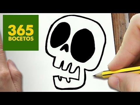 Como dibujar una Calavera de Halloween