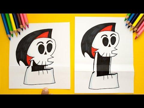 Como dibujar una Calavera divertida