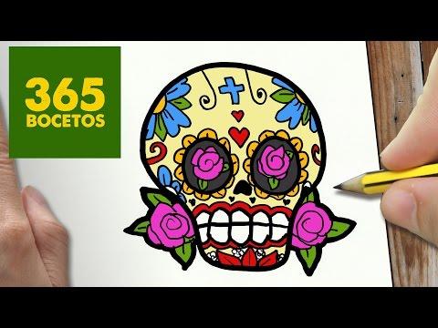 Como dibujar una Calavera Mejicana