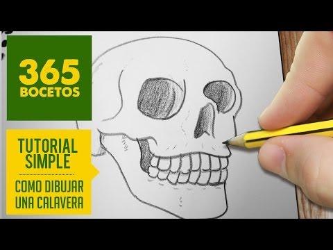 Como dibujar una calavera realista