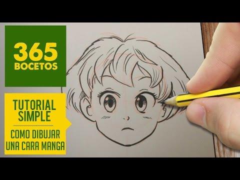 Como dibujar una Cara Manga