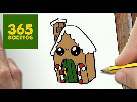 Como dibujar una Casa de Navidad