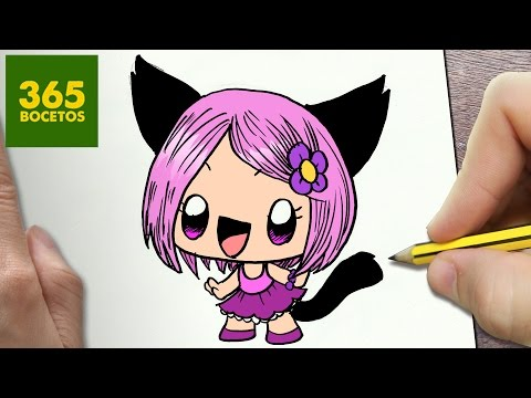 Como dibujar una chica Neko kawaii