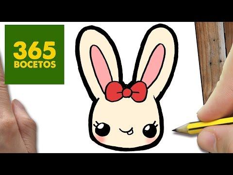 Como dibujar una conejita coqueta