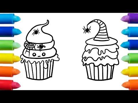 Como dibujar una Cupcake para Halloween