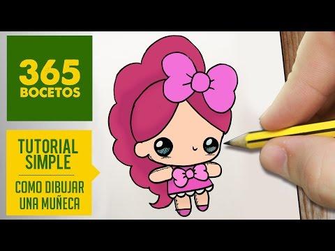 Como dibujar una dulce muñeca de trapo