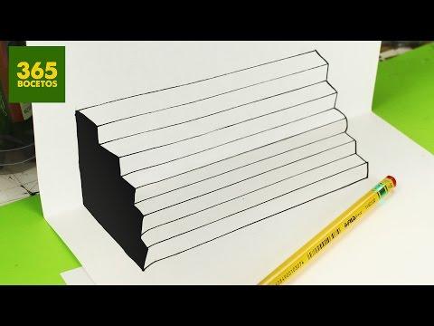 Como dibujar una Escalera 3D
