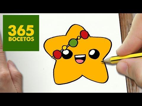 Como dibujar una estrella con luces de Navidad