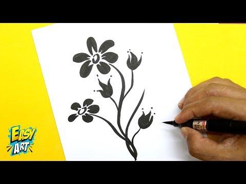 Como dibujar una Flor muy fácil