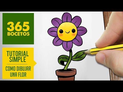Como dibujar una flor sonriente