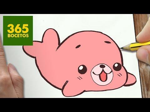 Como dibujar una foca adorable