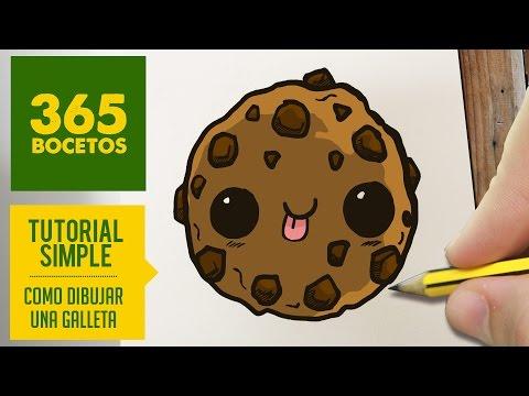Como dibujar una galleta kawaii