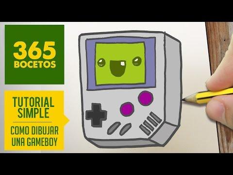 Como dibujar una Gameboy de Nintendo retro