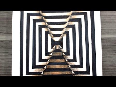Como dibujar una ilusión óptica 3D