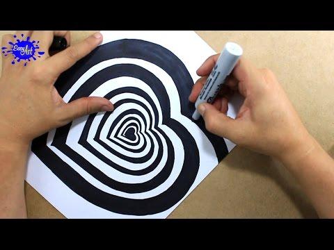 Como dibujar una ilusión óptica en 3D