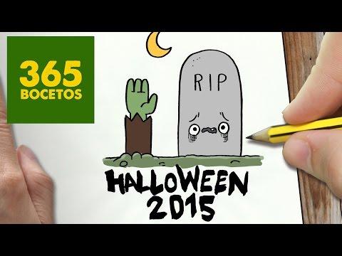Como dibujar una lápida de Halloween