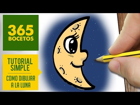Como dibujar una luna de perfil con cara