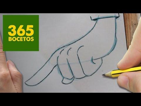 Como dibujar una Mano fácil