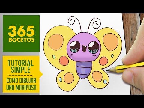 Como dibujar una mariposa fácil