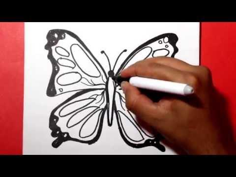 Como dibujar una Mariposa paso a paso fácil