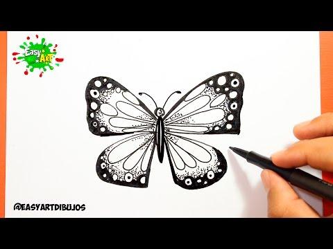 Como dibujar una Mariposa paso a paso