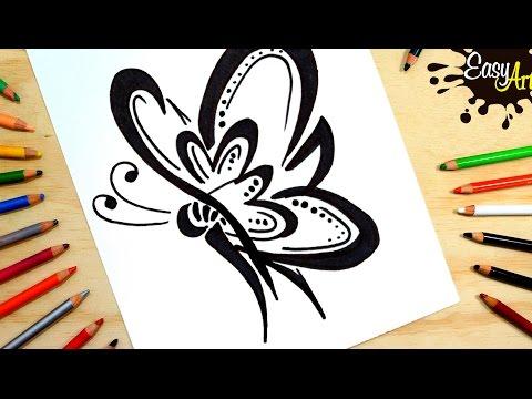 Como dibujar una Mariposa súper fácil