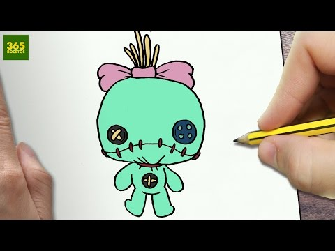 Como dibujar una muñeca de trapo terrorífica