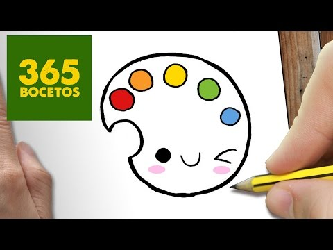 Como dibujar una paleta de colores divertida