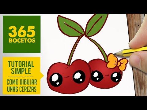 Como dibujar una pareja de cerezas
