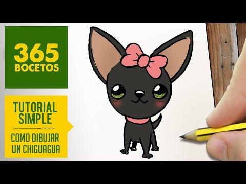 Como dibujar una perrita chihuahua