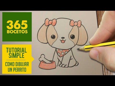 Como dibujar una Perrita