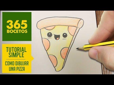 Como dibujar una pizza sonriente