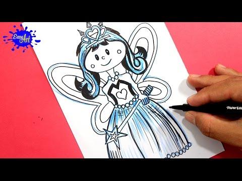 Como dibujar una princesa fácil