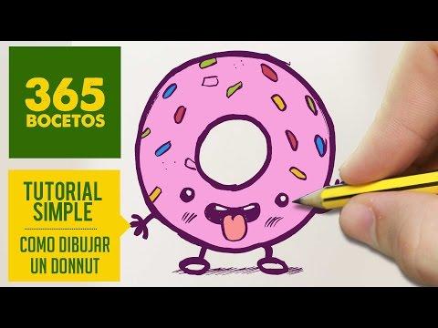 Como dibujar una rosquilla de colores