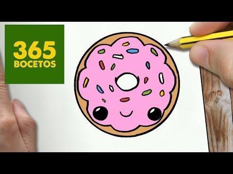 Como dibujar una rosquilla traviesa