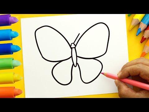 Como dibujar una sencilla Mariposa paso a paso