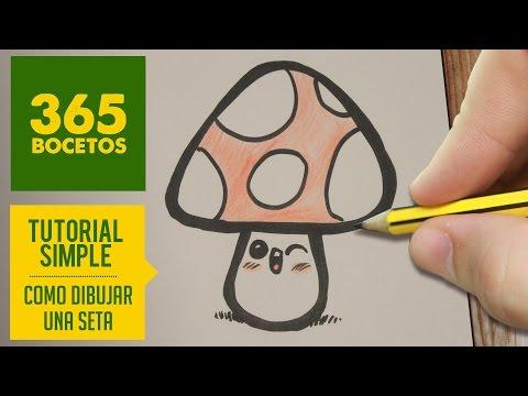 Como dibujar una seta con topos