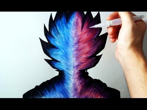 Como dibujar una silueta de Goku de Dragon Ball