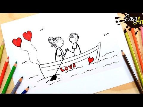 Como dibujar una tarjeta de San Valentín