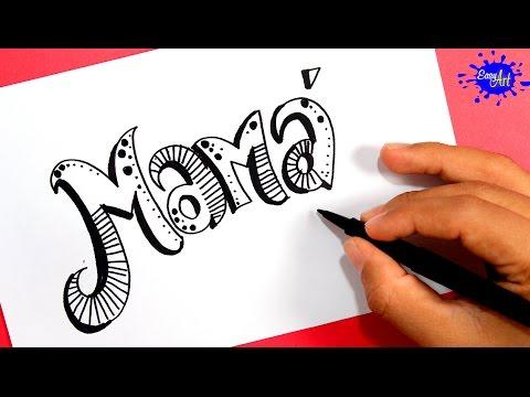 Como dibujar una tarjeta para el Día de la Madre paso a paso